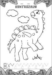 Pisanie literek z dinozaurami część 1 - zdjęcie 6