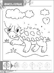 Dinozaury - Połącz punkty - zdjęcie 3