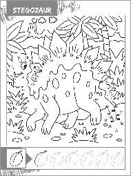 Dinozaury - Połącz punkty - zdjęcie 6